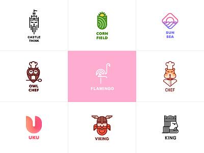 Best. One day. One logo. Month 2 bird crown helmet think sea sun hamster viking flamingo owl castle king field corn chef last spark one day one logo best logos logo
