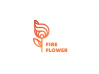Fire Flower Logo - Day 64