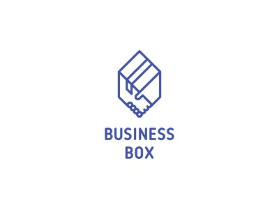 Business Box Logo - Day 65 logo logos real estate last spark one day one logo location move relocation transportations logistics courier premise delivery deal partner partnership handshake hand arm box business