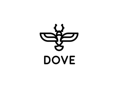 Dove Logo - Day 86 message mail email monochrome funeral outline line branch olive dove logo last spark one day one logo event party agency marriage wedding peace bird