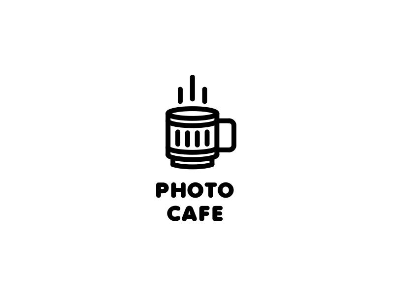 Photo Cafe Logo - Day 88 pub light flash shine hot smart outline line lens camera photographer coffee tea drink cup cafe photo last spark one day one logo logo