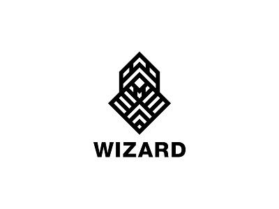 Wizard Logo - Day 94 monochrome black brand last spark one day one logo logos logo gamer game mascot mantle coat cape cloak costume cleric magic magician wiz wizard