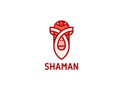 Shaman Logo - Day 100 🎉 illustration ethnic mascot animals relax mystic tattoo chakra animal monkey eye meditation beard yoga wizard shaman one day one logo last spark logos logo