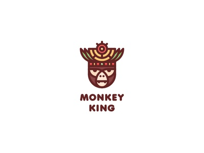 Monkey King Logo - Day 118 culture zoo brand one day one logo last spark for sale mark logos logo travel severe pride power jungle tribe crown shaman leader king monkey