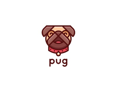 Pug Logo - Day 122 mops happy cute veterinary doctor vet mark last saprk one day one logo logos logo for sale brand mascot pet shop animal pets pet dog pug