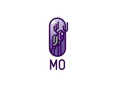 MO Forest Spirit Logo line badge mark branding brand logotype logo legend myth fairy tale wood soul ghost light moon night nature forest spirit mo