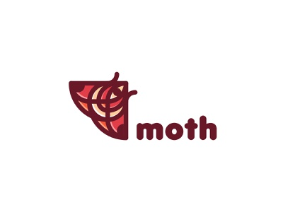 Moth Logo label lastspark badge mark illustration logotype logo branding brand nature tree forest fly flight wing beetle insect butterfly moth