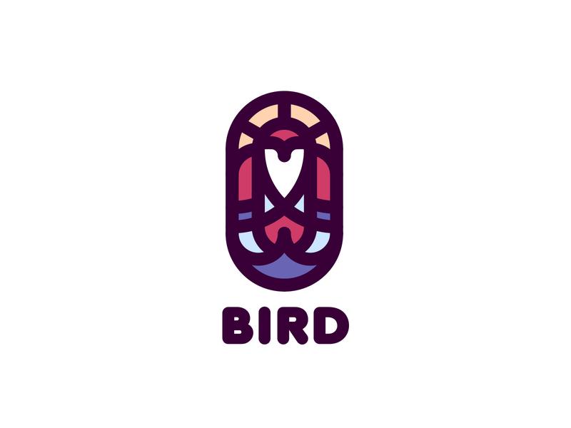 Brid Logo lastspark label mark branding brand illustration logotype logo outline line flight wings wing sun sea ocean water sky bird