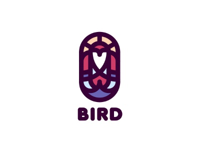 Brid Logo lastspark label mark branding brand illustration logotype logo outline line flight wings wing sun sea ocean water sky bird