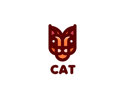 Cat Logo lastspark label mark branding brand illustration logotype logo outline line nature animal wild cat lynx head