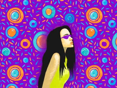 Expectation illustration digital graphic design circles glass girl woman drawingart
