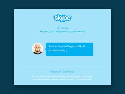 Mail Confirmation skype confirmation mail ui