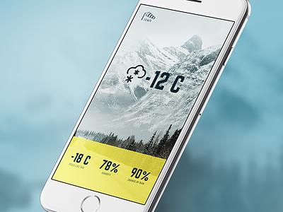 Weather App mobile app widget weather ui