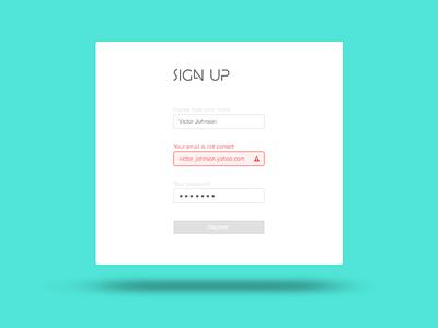 Field Validation register sign up error validation field ui