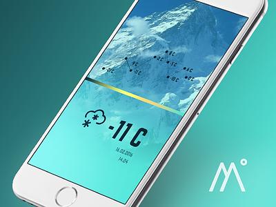 Mountain App Temperature temperature mountain app ui