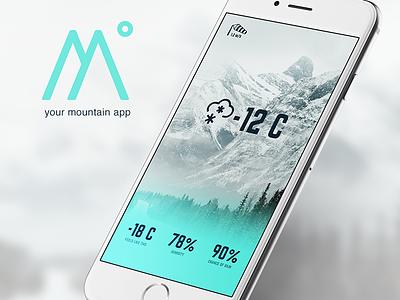 Mountain App iphone temperature mountain app ui