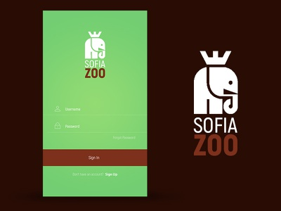 Login Screen zoo mobile app login