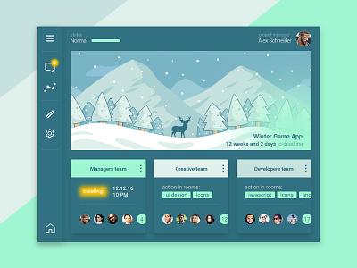 Dashboard team winter ui design dashboard