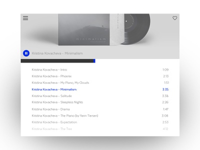 Music Player ui list progress music player
