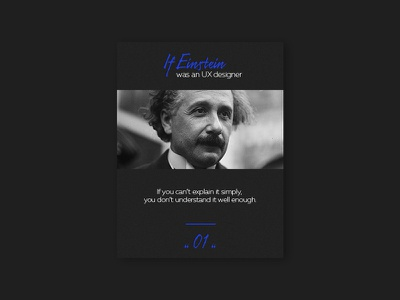 UX Quote thoughts einstein ux quote