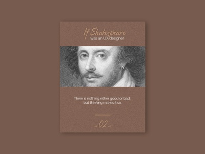 UX Quote shakespeare quote ux