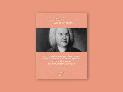 UX Quote music bach quote design digital ux