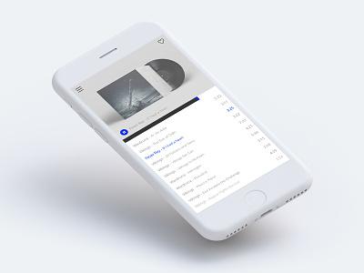 Music Player player music design mobile ios digital ux ui