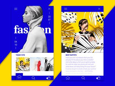 Fashion App digital fashion mobile app ui