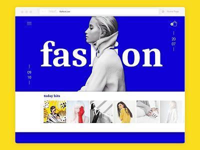 Fashion fashion desktop digital ux ui