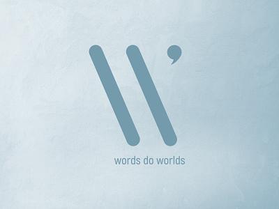 Words Do Worlds scene blue w worlds logo