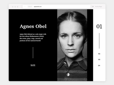 Artist CV Site black and white agnes obel art music artist cv bio site ui