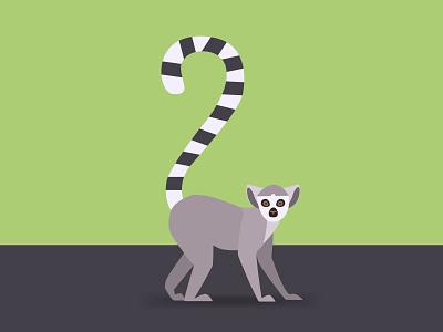 Lemur art vector illustration lemur