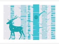 Woodland Screenprint