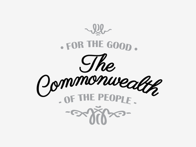 The Commonwealth Poster poster typography