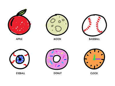 Round things icons sketch round