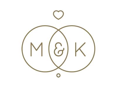 m amp k wedding logo by rhodi iliadou   dribbble