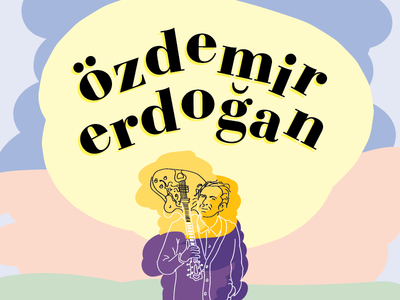Just for fun - Özdemir Erdoğan illustration just for fun rough music pastel blob line drawing quick illustration