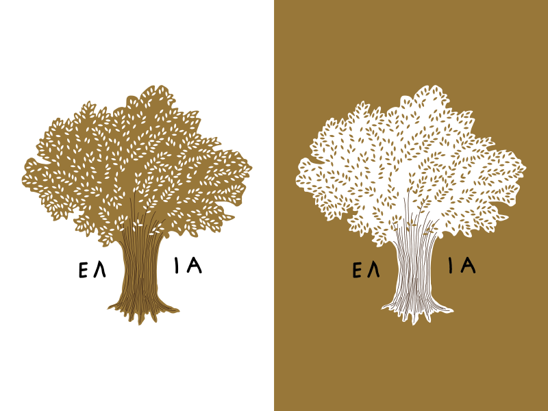 Olive Oil Label tree nature greek wip label packaging organic olivetree oliveoil illustration logo