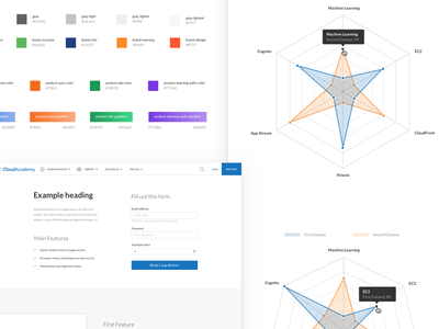 CloudAcademy Design System components tool system kit ui design