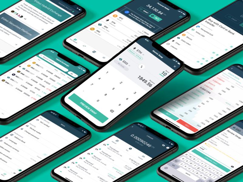 Eidoo Wallet ux ui wallet blockchain