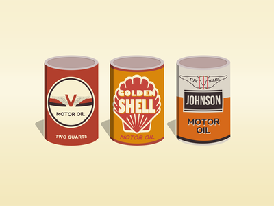 Oil Cans johnson shell car vintage cans oil