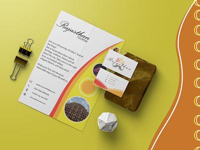 Rajasthan Tourism: Branding (Stationary Designs) branding logo design graphic design 3d vector illustration