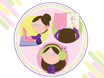 """Purple"" : Mini Me inspiration dribbble rebound dribbble custom avatar official rebound rebound branding graphic design vector illustration"