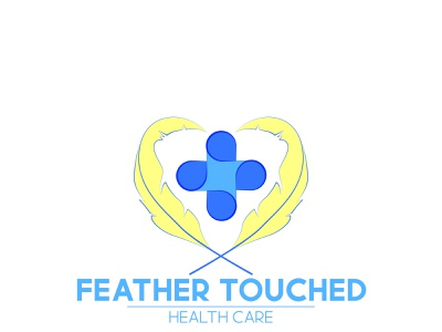 Feather Touched: Health Care Logo brand identity brand logo design logo design branding graphic design vector illustration