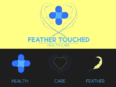Feather Touched : Health Care (Logo Concept) design logo branding graphic design vector illustration