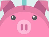 Blog illo on Saving Money for a Rainy Day