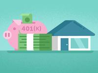 Blog illo on advice for retirement