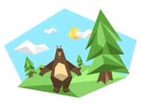 Geo Bear Scene