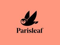 Parisleaf Logo Lockup identity design owl logotype logomark logo branding