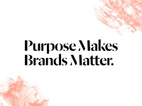 It's true. identity typography purpose branding